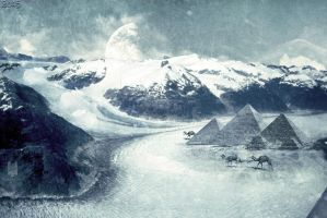 Pyramids in the ice ages by Mido-san-mg