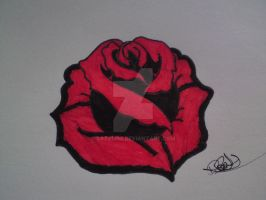 Red and Black Rose by BAZZ1392