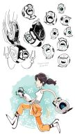 Portal 2 doodles by midwaymilly