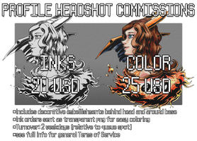 [INFO] Fancy Profile Headshot Comms $20-$25 [OPEN] by Shalmons