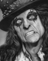 Airbrushed Alice Cooper by numbthumbs