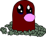 Sad Diglett is Sad by PlaidTuxedo