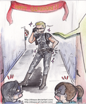 Resident Evil birthday card- Wesker by Disaya
