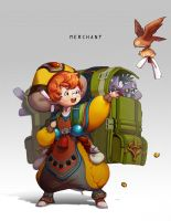 Character Concept Art - Merchant by Byam