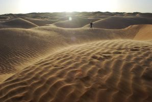 Epic Windy Desert Journey by Subastral