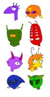 Spaced Out Life - Various Alien Designs by yeagerspace