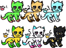 Adoptables~! ^w^ by Emmie-Kat