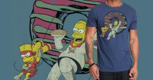 Simpson cosplay BATMAN T-shirt by sunny84india