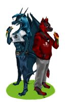 + Commission + Vegan Family by inu-steakcy