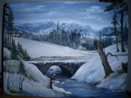 High Tatras landscape painting by Marcco666