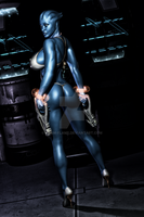 Asari Guns and bikinis by Exgemini by XXAdamFlame90XX