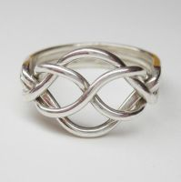 Puzzle ring skinny 2 by Vansee-Jewelry