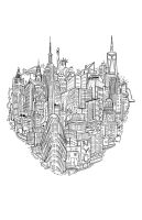 New York Heart Tee by piratesofbrooklyn