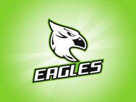 Eagles gaming logo by pdesign97