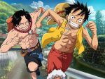 Luffy and Ace by Narusailor