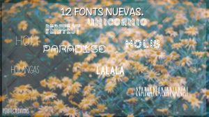 Fonts nuevas by PerffectEditions