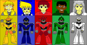 Neon Strikers - Neon Power Suits by ian2x4