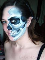 Close up - Anatomical face painting. by larahawker