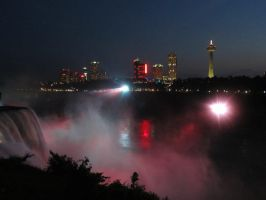 Falls at Night by NostalgiaPhotos