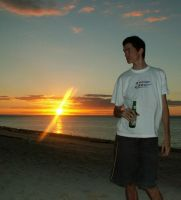 Posing for the Sunset by faramir