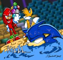 Sonic, Tails and Knux by SupaCrikeyDave