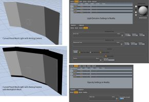 Curved Panel Mesh Light with Aiming Camera by JasonGalterio