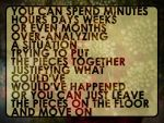 You can spend minutes... by Juernica