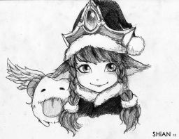 Quick Sketch - Winter Wonder Lulu by shiannnn