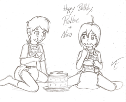Happy Birthday Robbie and Nino by TamaeFTT
