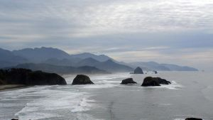 Cannon beach, Haystack rock by adderx99