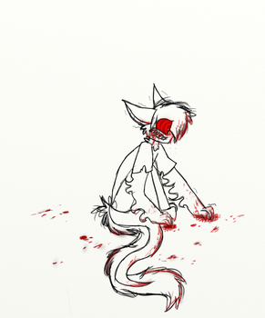 Covered in blood. by sarahsuz