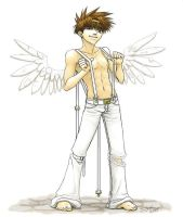 Saiyuki - Wings-- 3 of 4 by uberdomkumagoro