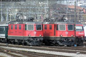 SBB Re 4-4 II 11227 + 11224 by SwissTrain