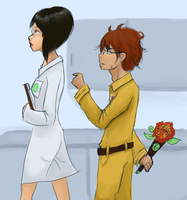 WALL-E AU- The Scientist by schellibie