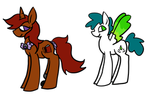 Themed Ponies 6 by SparkleBloomSwirl