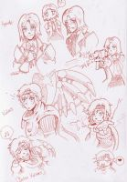 Baten Kaitos Sketches Dx by TheoriginalDin