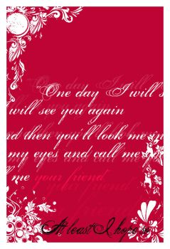 Maybe OneDay by laliluuu