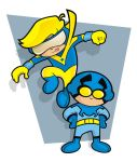 Blue Beetle and Booster Gold by HeadsUpStudios