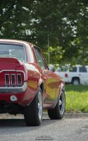 Mustang Red Poster by joerayphoto