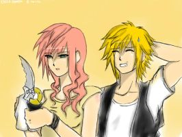 Hey Prompto, you think it's clean enough? by rikuxrikku4ever
