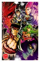 Street FighterVS.Darkstalkers by SeanLenahanSD