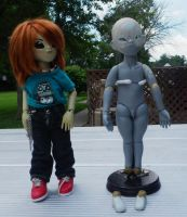 Artist made BJDs Adrian and Lonnie by ab-rowin