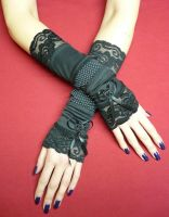 Black steampunk gloves by Estylissimo