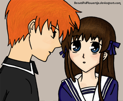 Fruits Basket: tohru x kyo by BeautifulFlowertje