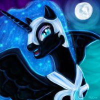 Happy Nightmare Moon by telimbo
