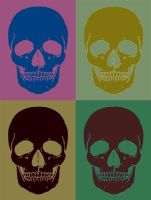 Pop Art Skulls by TheGreatDevin