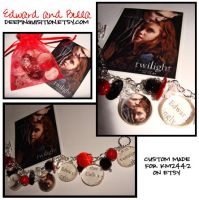 Edward and Bella Bracelet by bitemekthx