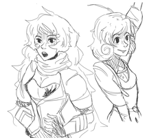 RWBY Sketches by genuineDemise