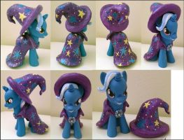 MLPFIM Great And Powerful Trixie + Removeable Hat! by omgwtflols