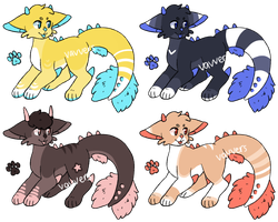 Wyvern Cats Adopts / CLOSED by vavvers